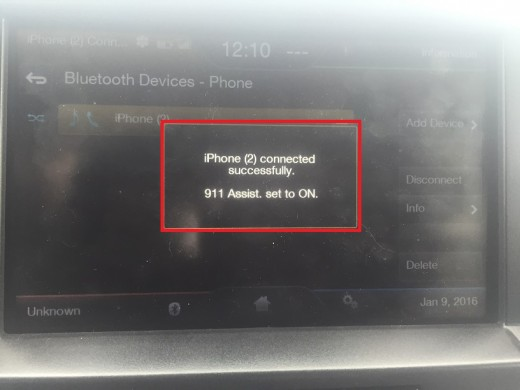 A message will appear on the screen after your phone and the Ford vehicle are successfully paired.