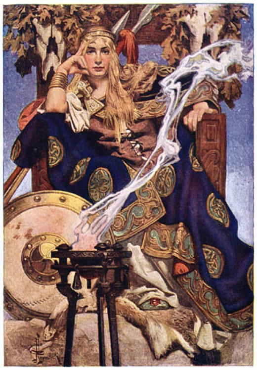 Queen Maev (Medb) by J. C. Leyendecker