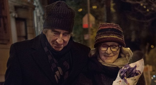 Left to Right: Sam Waterston as Professor Walter and Glenn Close as his widowed wife Maria