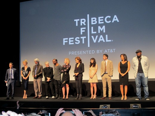 The entire cast and crew at the Tribeca 2015 premiere.