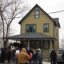 """Another view of the famous home used for exterior shots of the home belonging to the Parker family from """"A Christmas Story."""""""