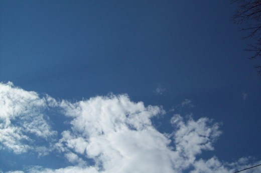 Even a bright blue sky will have a cloud or two.