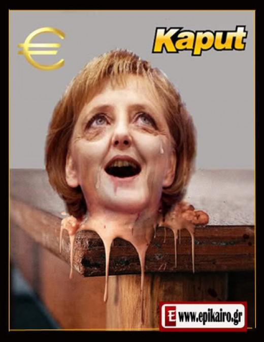 Lampooning Merkel.