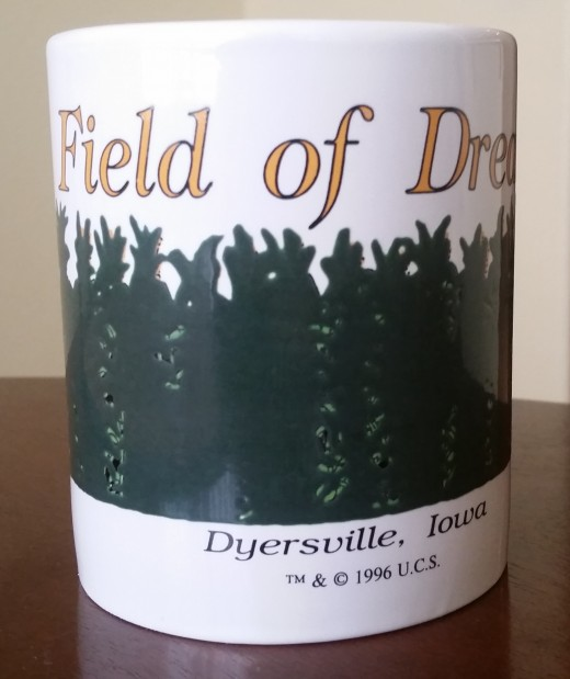 Field of Dreams coffee mug we bought when we visited the movie site.