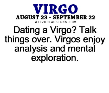 Dating a virgo woman