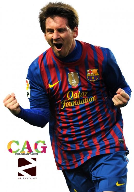 Messi In Barcelona Kit.