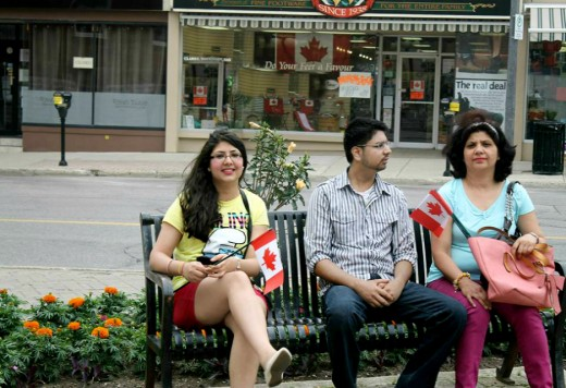 With Brother, Vish and Mumma, 2013. Taken on Canada Day.