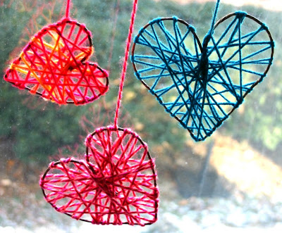Supplies you will need to make these cute yarn hearts are: rustic floral wire, wire cutters, yarn and scissors.
