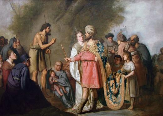 Author Pieter de Grebber (circa 1600–1652/1653)   Title Français : Saint Jean Baptiste prêchant devant Hérode Date17th century Mediumpainting Current location Palais des Beaux-Arts de Lille
