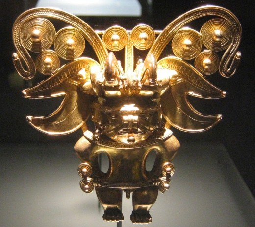 All that glitters is not gold. This Pre-Columbian Tairona pendant is made from tumbaga.