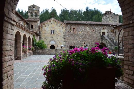 Courtyard of Castello di Amorosa