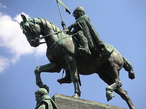 Statue of King Wenceslaus that sits in Prague.