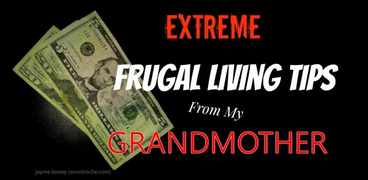The elderly are masters of frugal living!