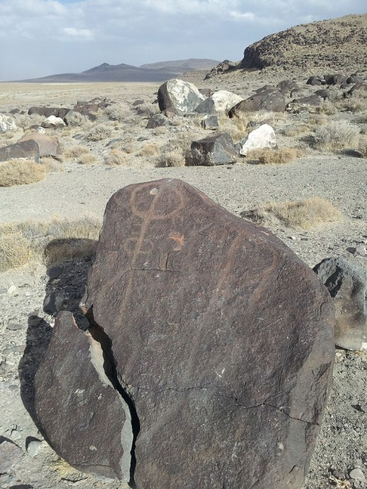 Petroglyph at Grimes Point.