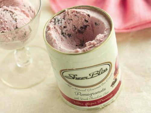 Sheer Bliss Pomegranate ice cream