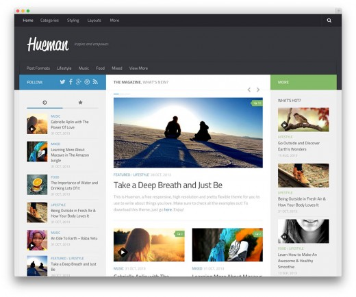 WordPress theme sample