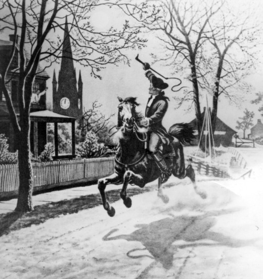 Illustration of Paul Revere from Office of War Information