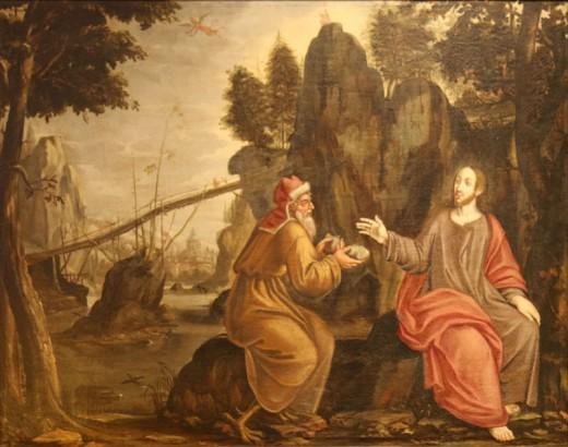 Artist Barthélemy Parrocel (1595–1660)   Title Français : Jésus au désert. Mediumoil on canvas DimensionsHeight: 98 cm (38.6 in). Width: 124 cm (48.8 in). Current location Musée du Pays Brign