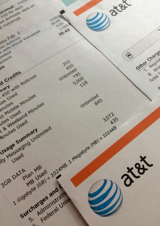 AT&T data plans add an extra expense to the cell phone bill