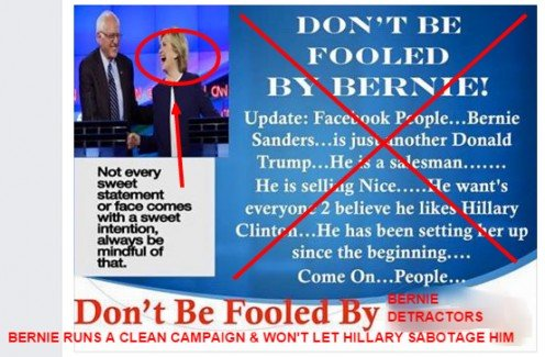 Using my screenshot tool, I fixed up this meme meant to smear Bernie Sanders. See my notes below for details on how I fixed it.
