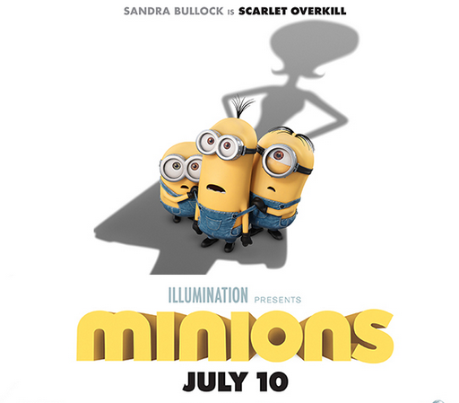 "Promotional poster for ""Minions"""