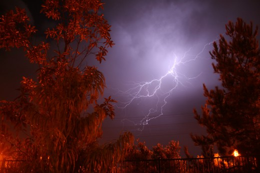 Lightning flashes more than 3 million times daily. Each lightning bolt is about 54,000 degrees Fahrenheit, or five times hotter than the sun. About 2,000 people annually die from lightning strikes. And lightning CAN strike the same place twice.