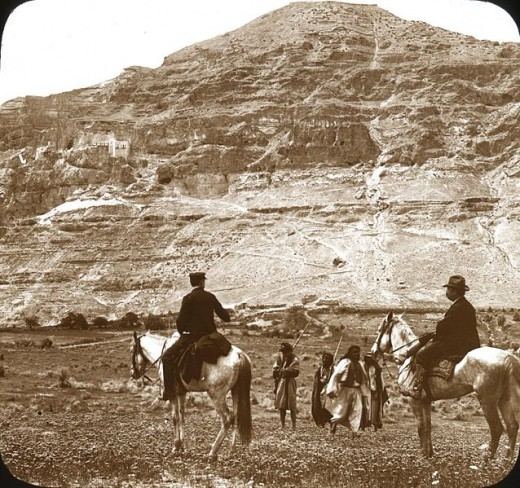 Mount Quarantania is the traditional Mount of our Lord's Temptation. Photo: OSU Special Collections & Archives Research Center