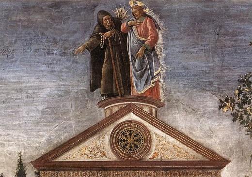 Artist Sandro Botticelli (1445–1510)  TitleThree Temptations of Christ (detail) Datebetween 1481 and 1482 Mediumfresco Current location Sistine Chapel