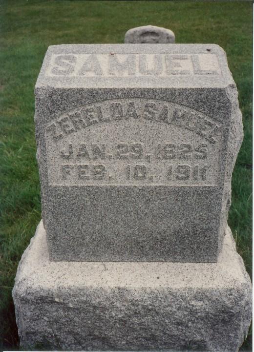 Jesse's mother's gravestone in Mt. Olivet Cemetery in Kearney
