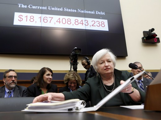 Janet Yellen (head of the Federal Reserve) decides whether or not the interest rates rise.