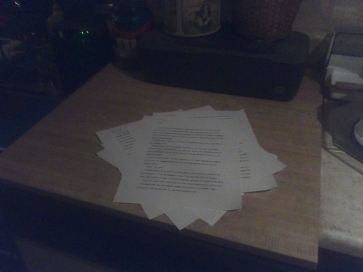 The Daily Drafts come before the Final Manuscript.