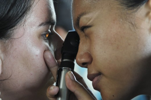 News about visual impairment usually begins with an eye check up at the ophthalmologist's.