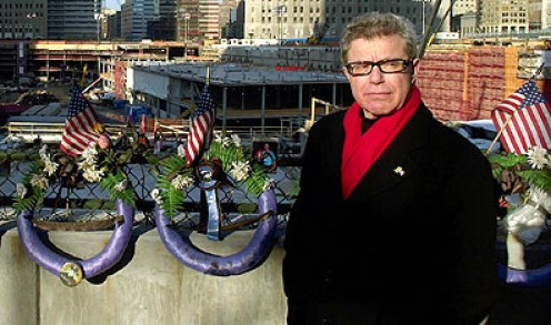Architect Daniel Libeskind at Ground Zero in New York. AP Photo by Gregory Bull.