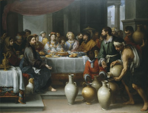 Author	 Bartolomé Esteban Murillo (1617–1682)   Title	The Marriage at Cana,  Date	circa 1672  	 Current location	 Barber Institute of Fine Arts