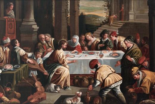 Artist Circle of Frans Francken the Elder (1542–1616)   TitleDie Hochzeit zu Kana Date16th century or 17th century Mediumoil on canvas