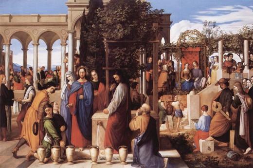 Artist Julius Schnorr von Carolsfeld (1794–1872) TitleGerman: Die Hochzeit zu Kana Date1820 Mediumoil on canvas Dimensions138.5 × 208 cm (54.5 × 81.9 in) Current location Kunsthalle Hamburg