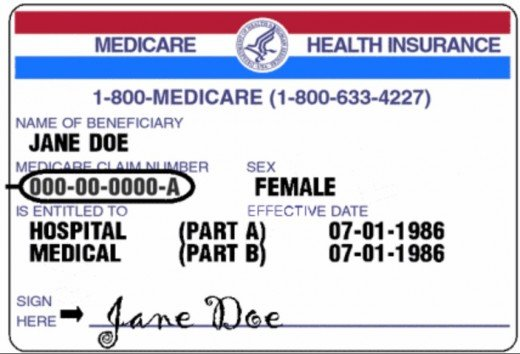 Medicare Card Showing Active Coverage