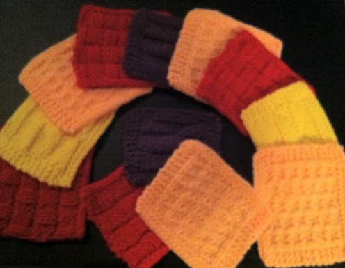 Use the two links to the left to make these beautiful knitted coaster sets!