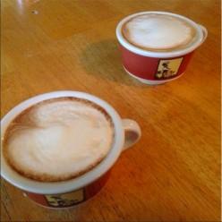 Hospitality, making an espresso drink
