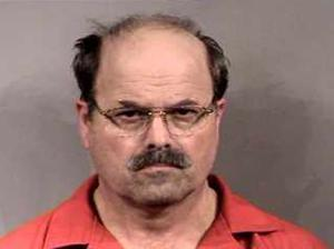 Rader's mug shot, taken during booking at the Sedgwick County Jail at around 8 p.m. on February 27, 2005