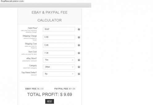Calculate your exact profits to the penny. Use this before listing anything on Ebay!