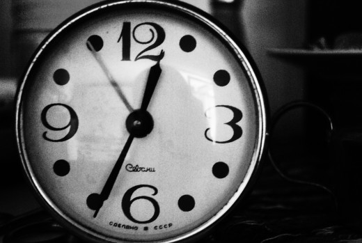 The fight against time, alarm clocks and our time cards...