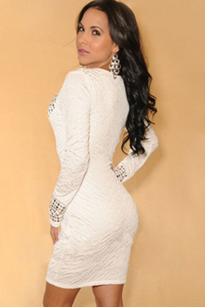 Long sleeve white dress