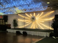 The stage area at Thomasina's
