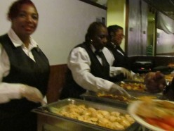 Cynthia and Maureen, served their guests a delicious meal.