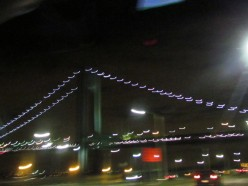 Leaving New York after an evening of delicious food, dancing and outstanding entertainment.