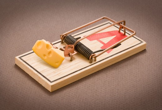 Intriguing Picture of a Mouse Trap