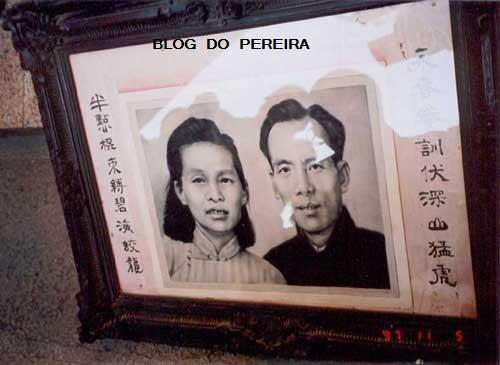 The real Master Yip Man and his wife