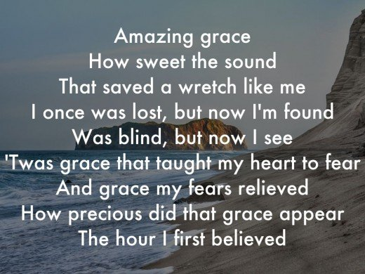 Amazing Grace How Sweet The Sound....
