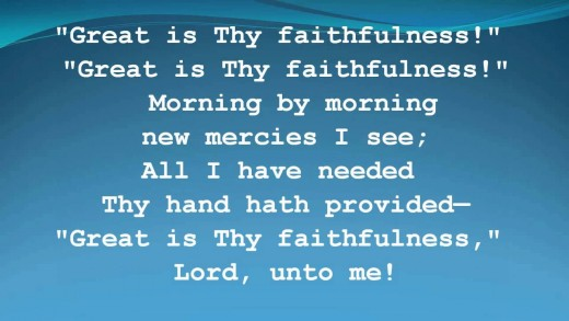 Great is Thy Faithfulness (chorus)